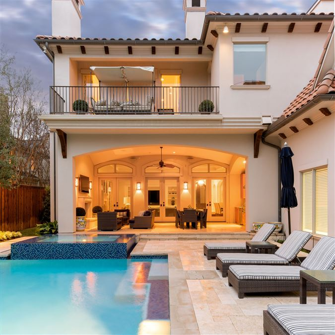 gorgeous  custom Mediterranean home luxury real estate