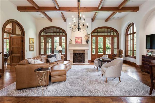 Impressive Preston Hollow residence in quiet Lobello Estates luxury properties