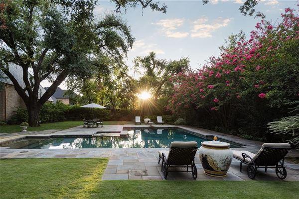 Mansions in Impressive Preston Hollow residence in quiet Lobello Estates