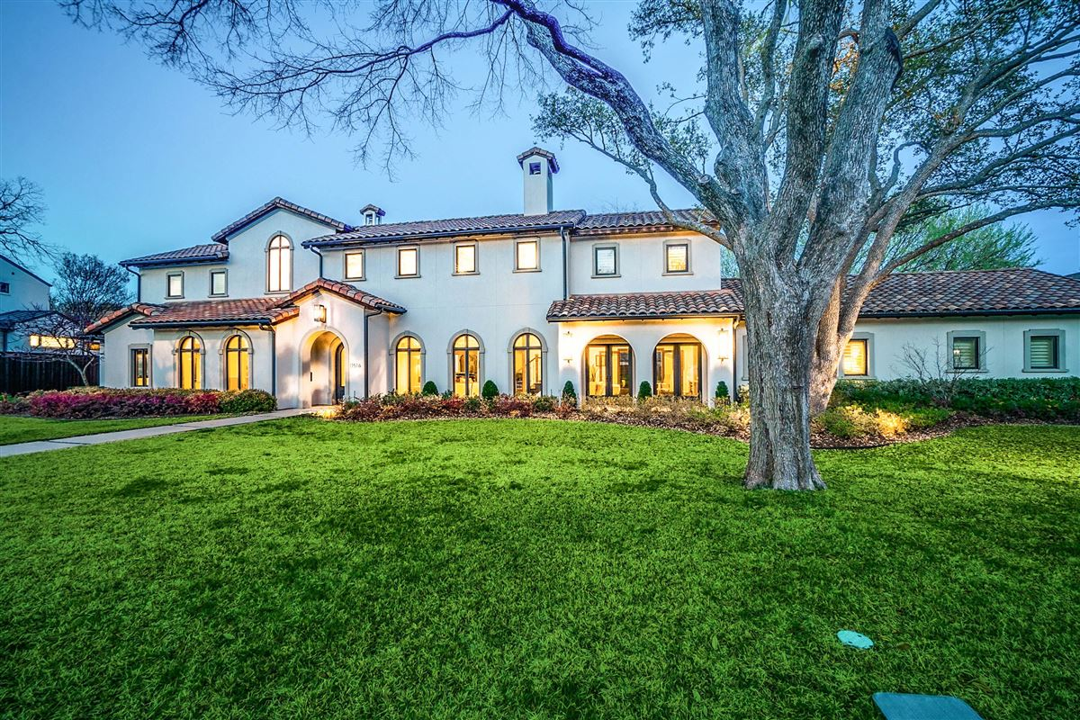 Immaculate Mediterranean Preston Hollow home luxury homes