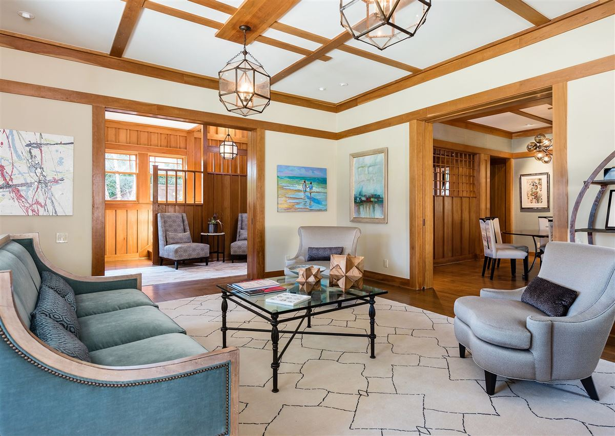 Luxury homes totally renovated Prairie-style historic home