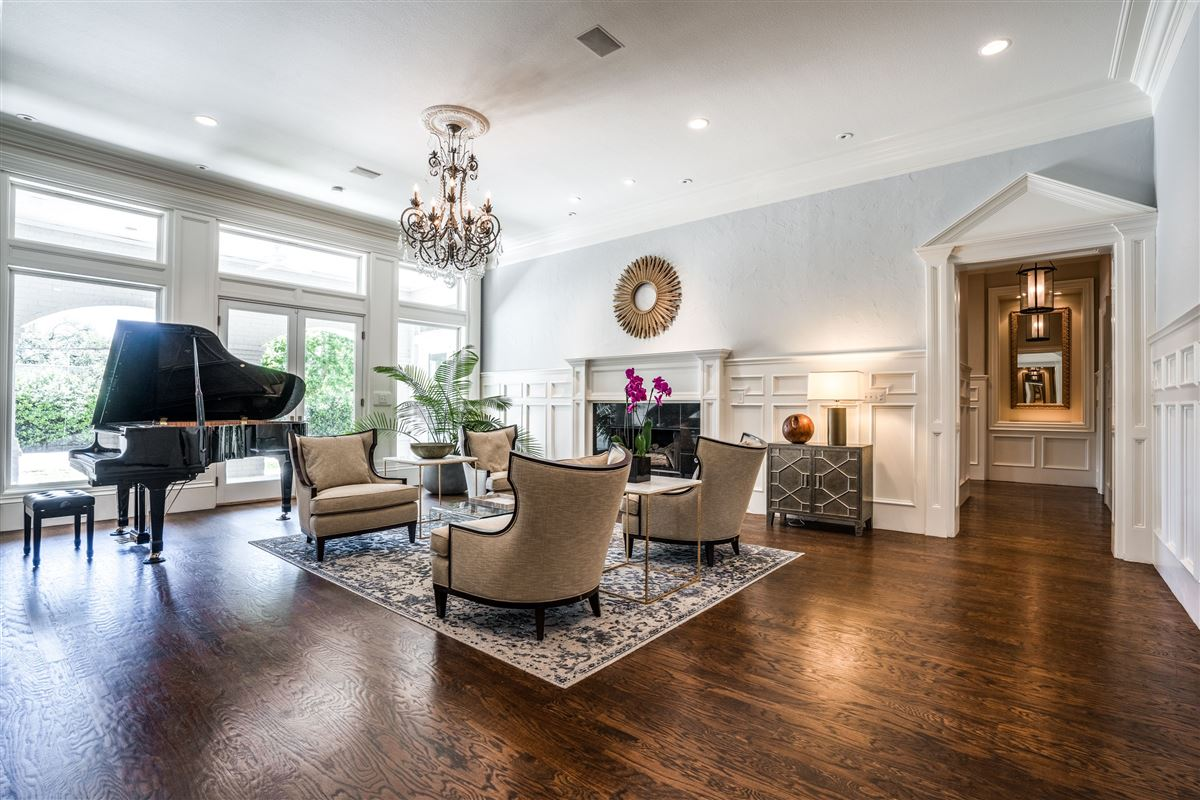 Gated Preston Hollow estate with casual elegance luxury real estate