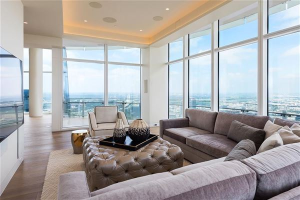Luxury homes half floor Penthouse in iconic Museum Tower
