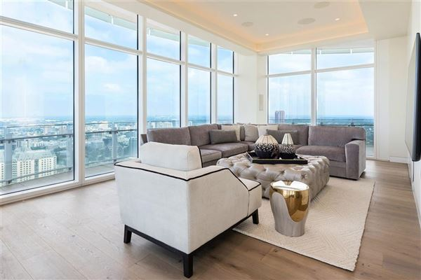 half floor Penthouse in iconic Museum Tower luxury homes