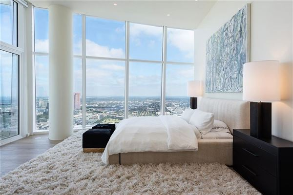 half floor Penthouse in iconic Museum Tower luxury real estate