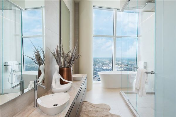 half floor Penthouse in iconic Museum Tower luxury properties