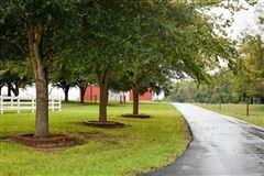 elegant farmhouse with gracious wrap-around porch luxury real estate