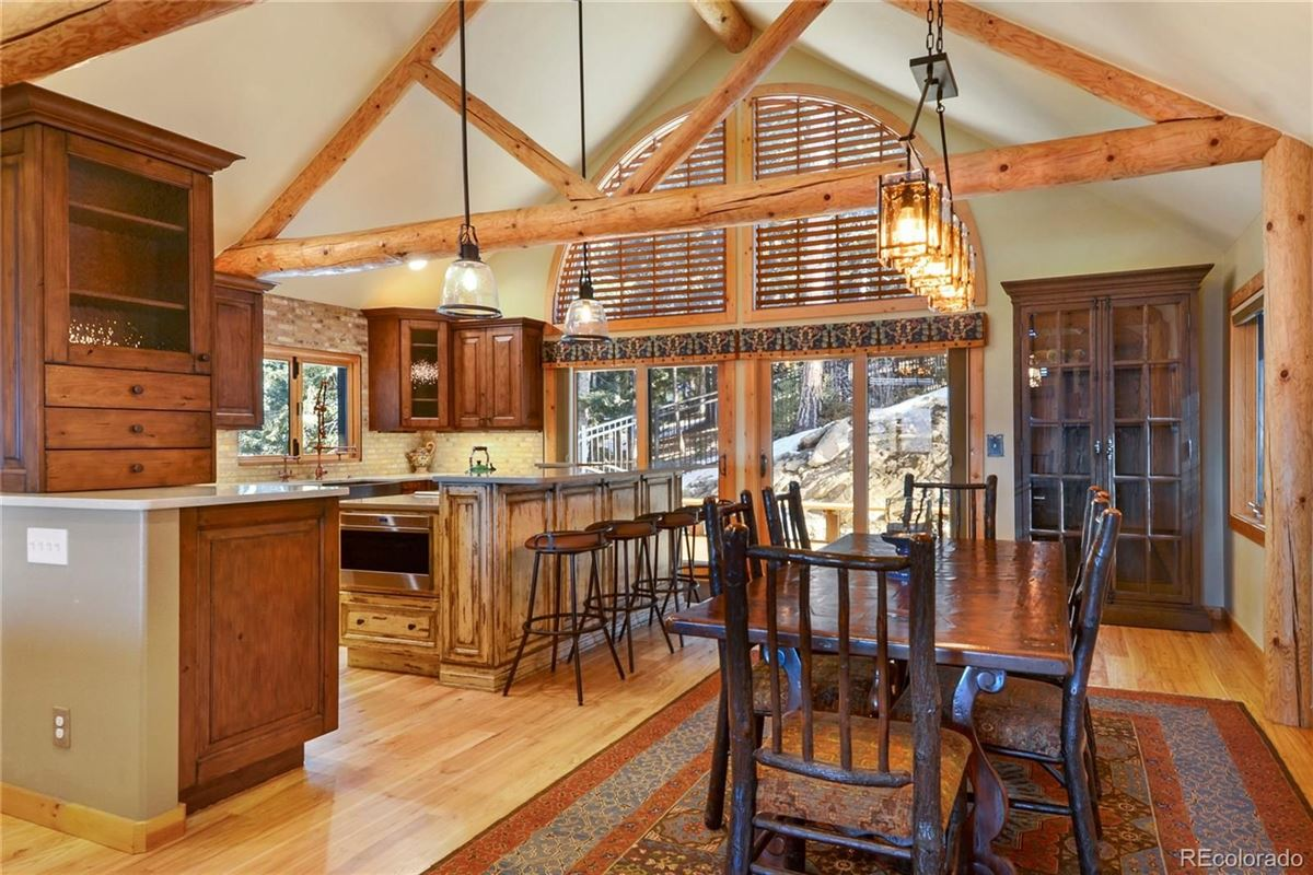 Custom Log Home with Jaw-Dropping Views luxury properties