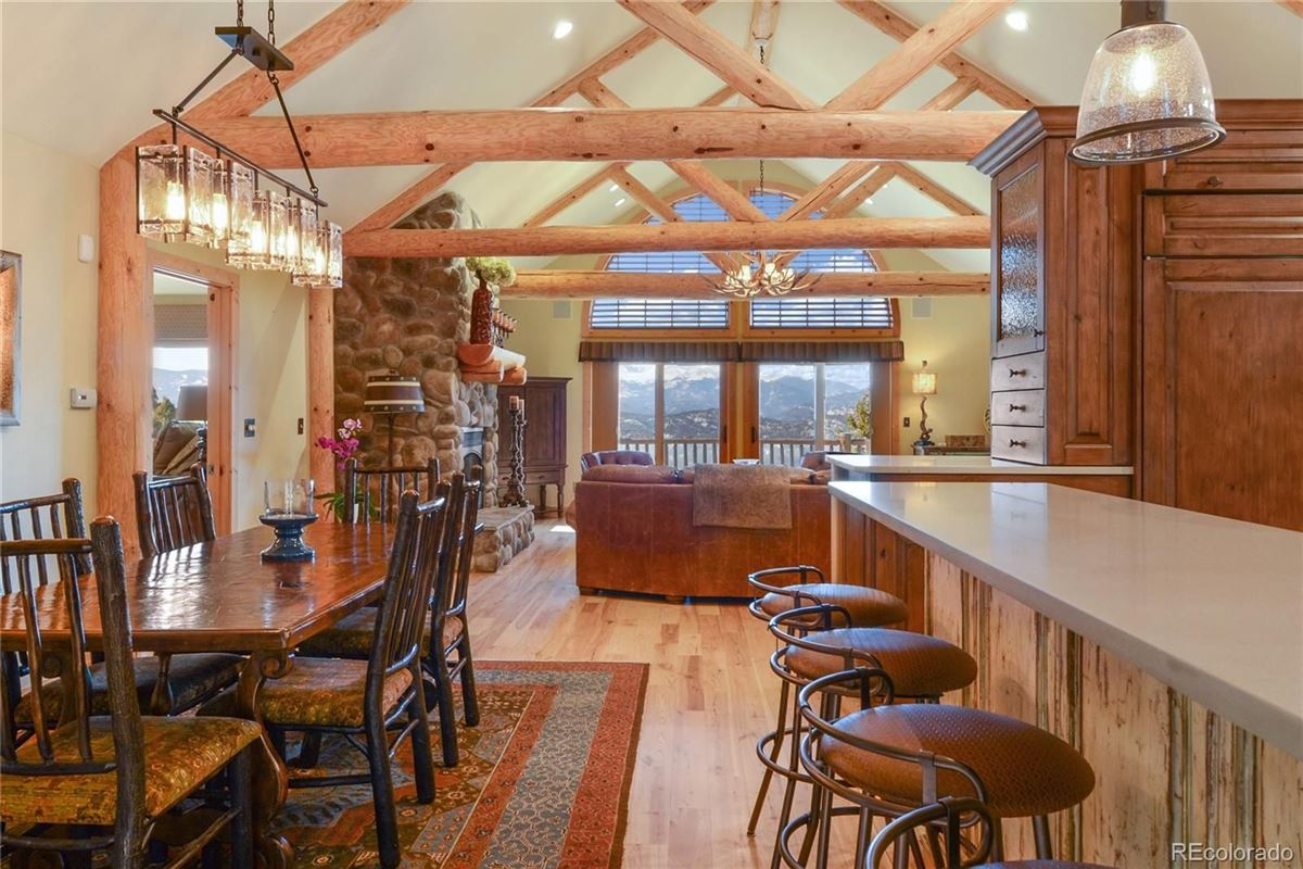 Mansions Custom Log Home with Jaw-Dropping Views