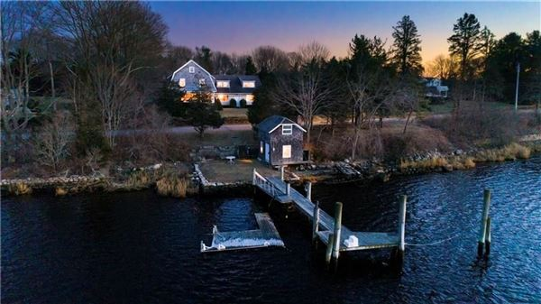 Charming Shingle Style Home with private dock mansions