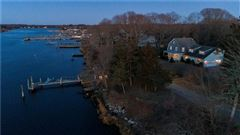 Luxury properties Charming Shingle Style Home with private dock