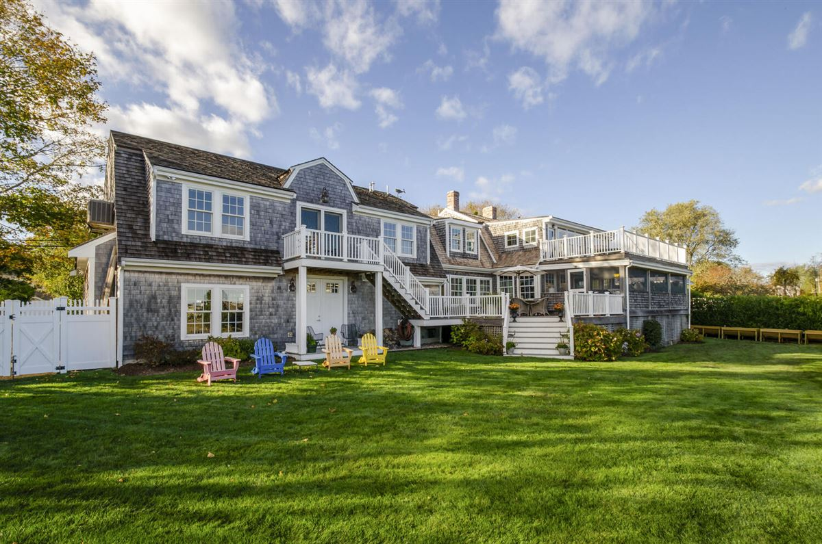Luxury real estate Exceptional waterfront Nantucket style Gambrel