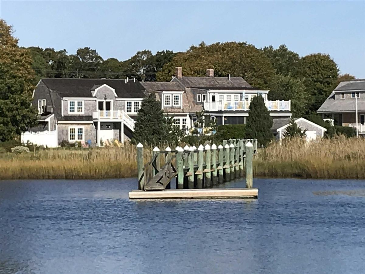 Luxury homes in Exceptional waterfront Nantucket style Gambrel