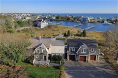 Exceptional waterfront Nantucket style Gambrel mansions