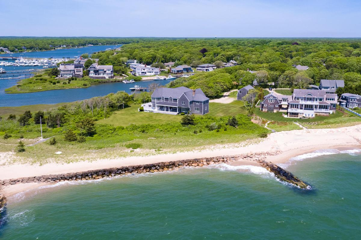 Luxury homes Vineyard Sound 6.9 acre Waterfront Estate