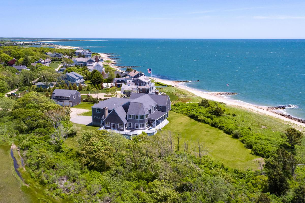 Luxury real estate Vineyard Sound 6.9 acre Waterfront Estate