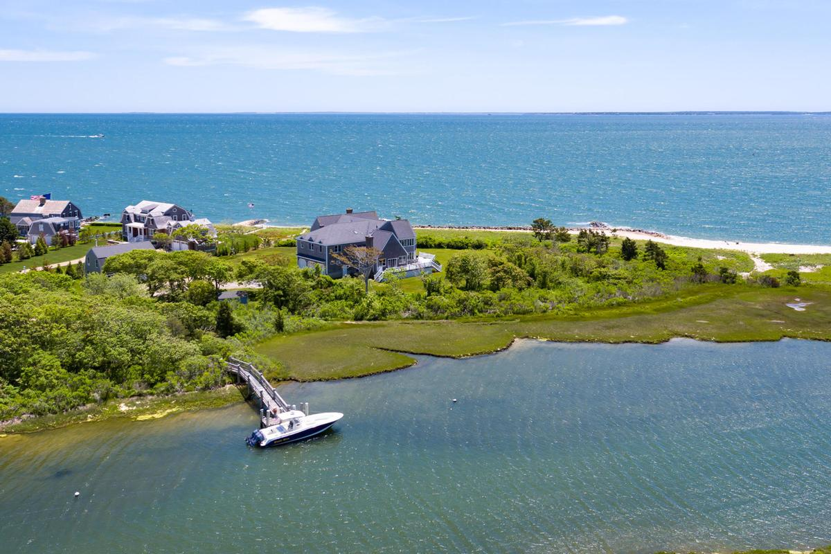 Vineyard Sound 6.9 acre Waterfront Estate luxury real estate
