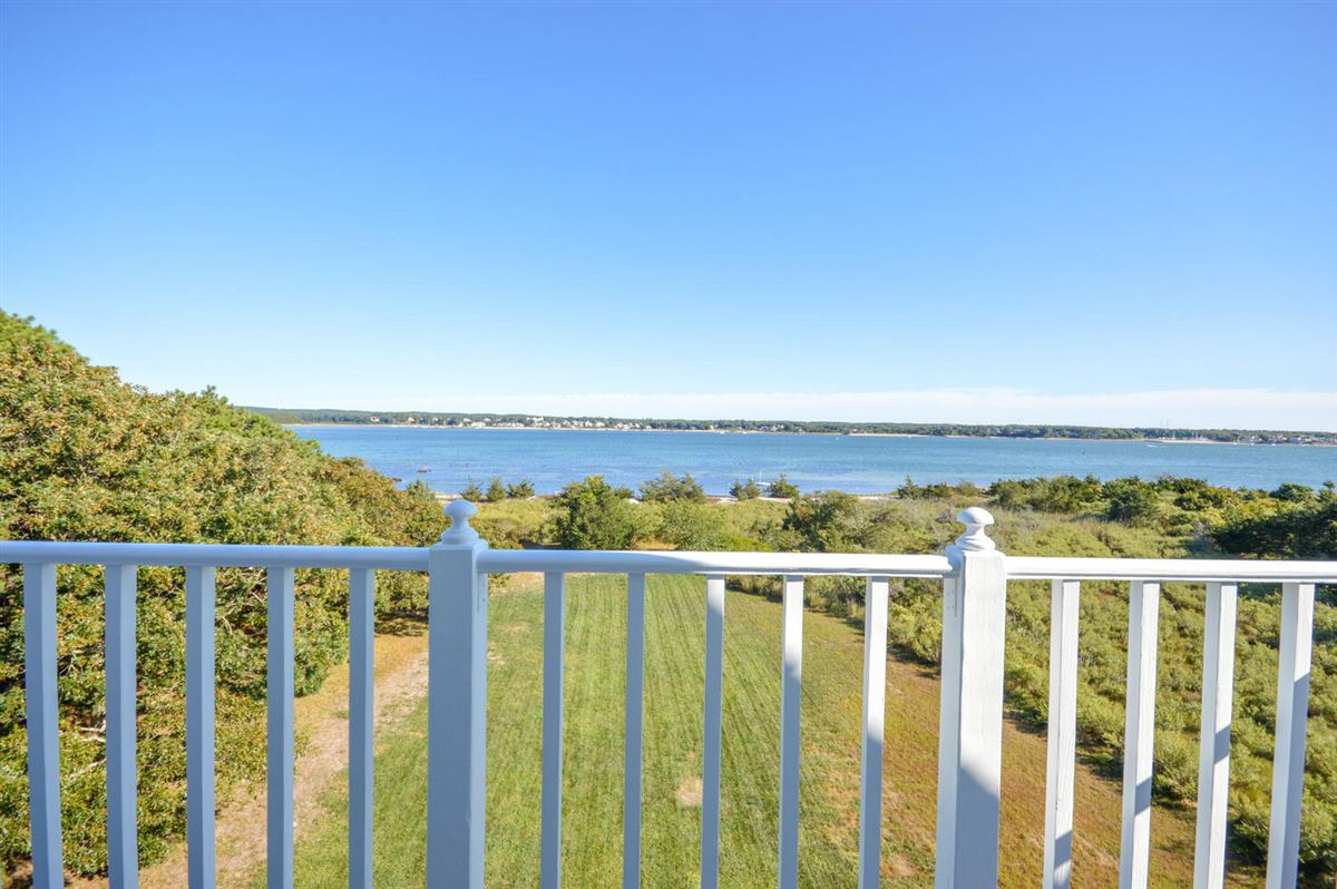 Panoramic views of Buzzards Bay luxury homes