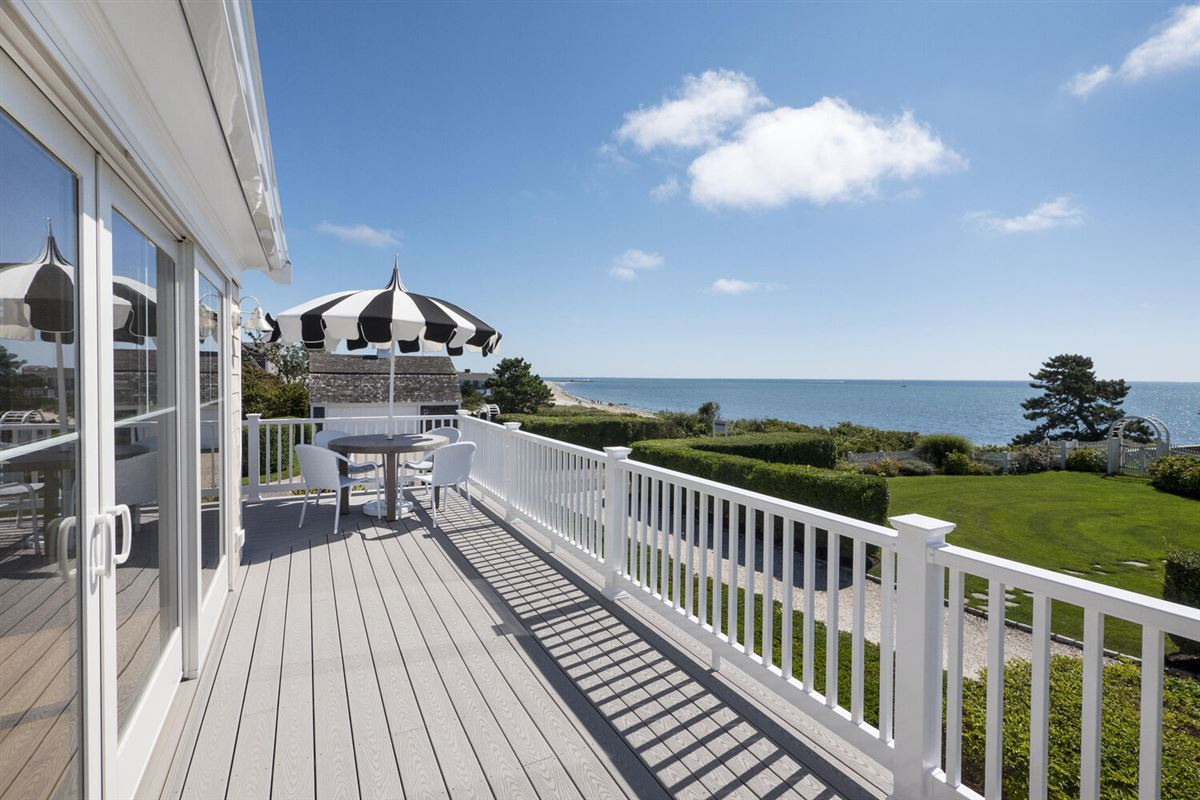 Luxury real estate fabulous home overlooking Nantucket Sound