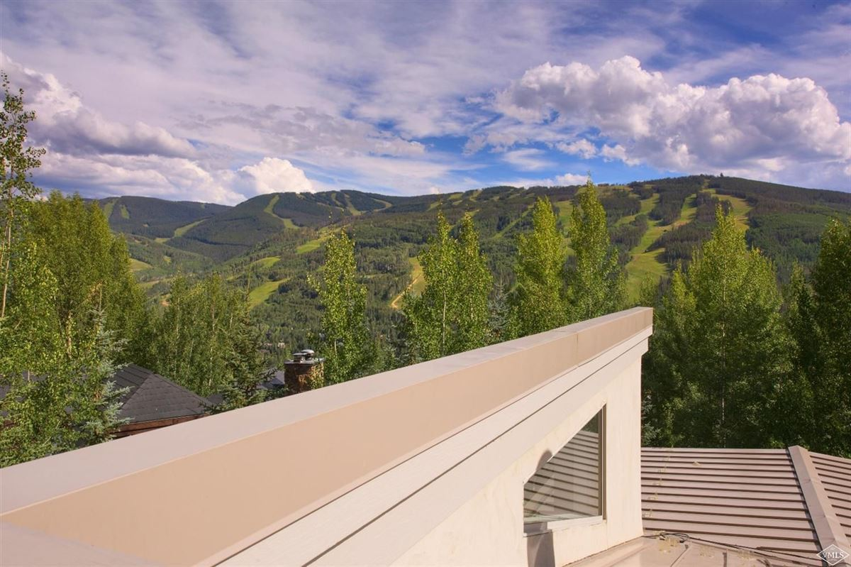 Luxury real estate contemporary Vail home with expansive views