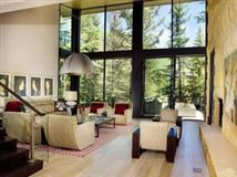 Mansions Mountain contemporary off the banks of Gore Creek