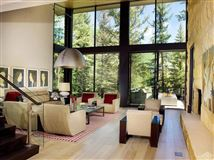 Mountain contemporary off the banks of Gore Creek mansions