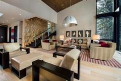 Luxury homes in Mountain contemporary off the banks of Gore Creek