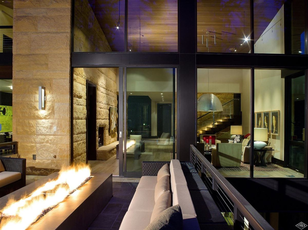 Mountain contemporary off the banks of Gore Creek luxury real estate
