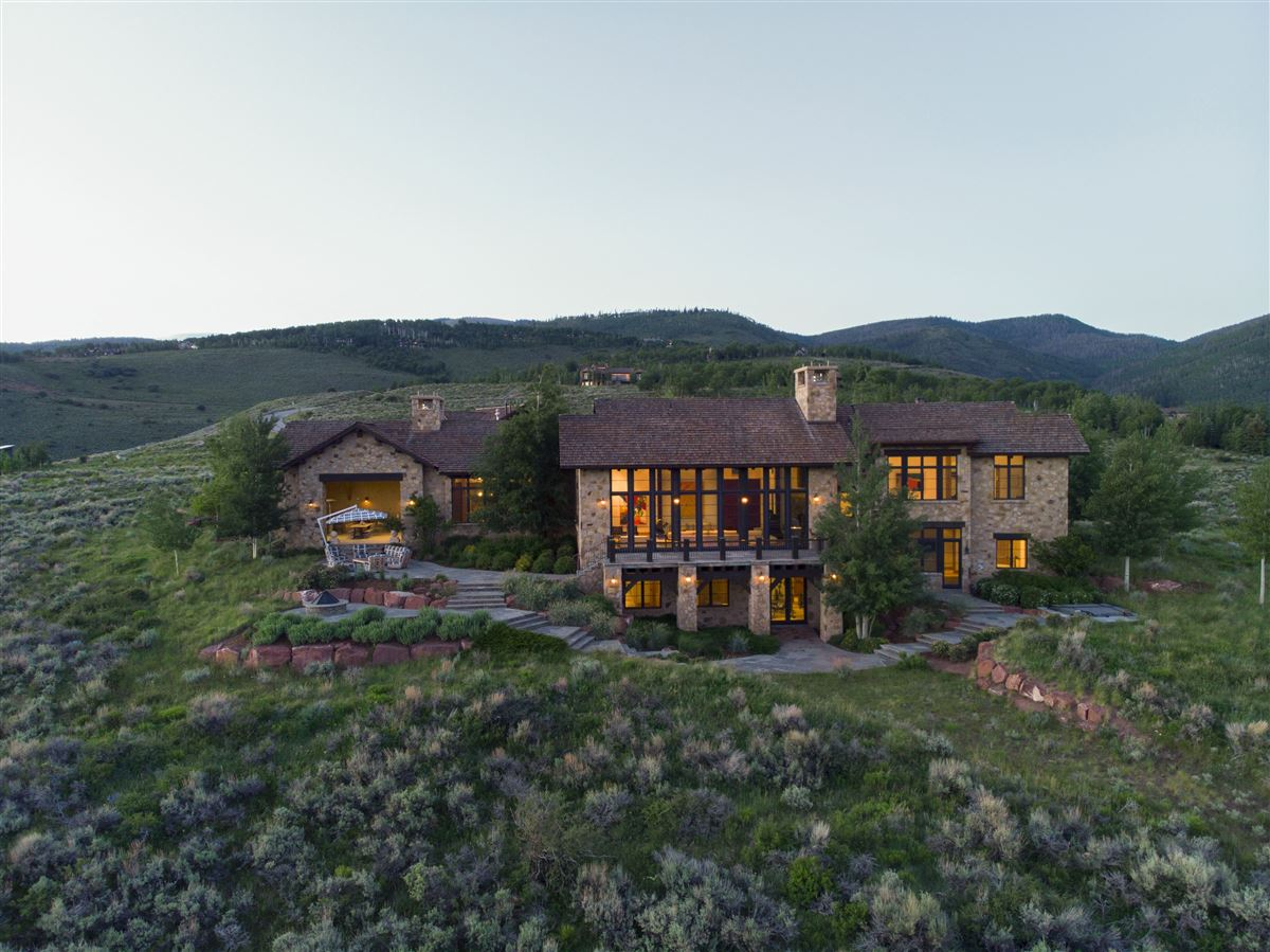 Mansions in contemporary high-country luxury home in Colorado