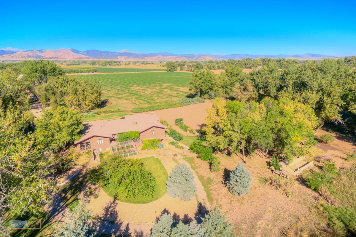 Luxury real estate Over nine acres on Left Hand Creek