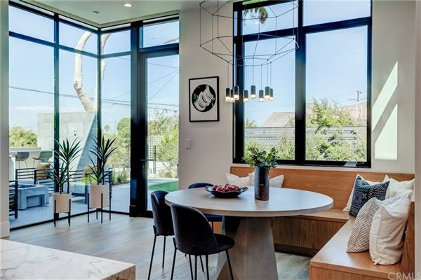 Mansions in immaculate new mid-century modern