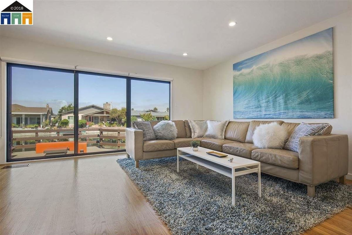 Luxury homes extensively updated mid-century lagoon home