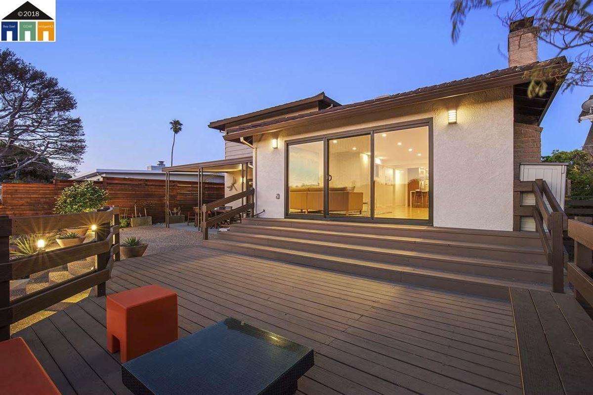 Luxury real estate extensively updated mid-century lagoon home