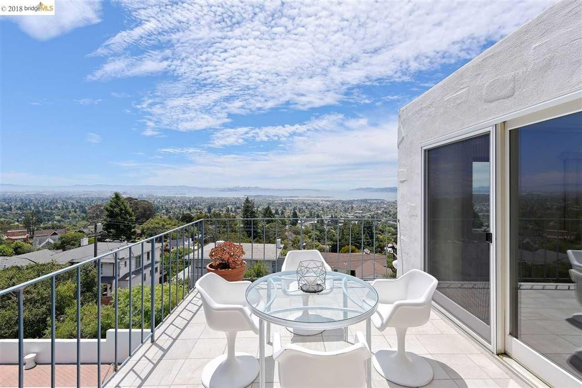 retreat in the heart of the North Berkeley Hills luxury real estate