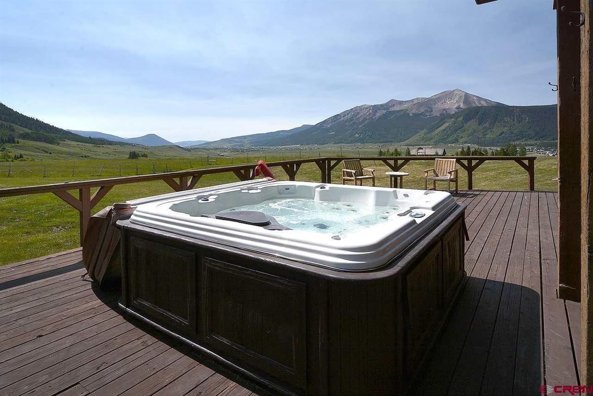 Luxury homes in Crested Butte, a longtime landmark for local residents and visitors