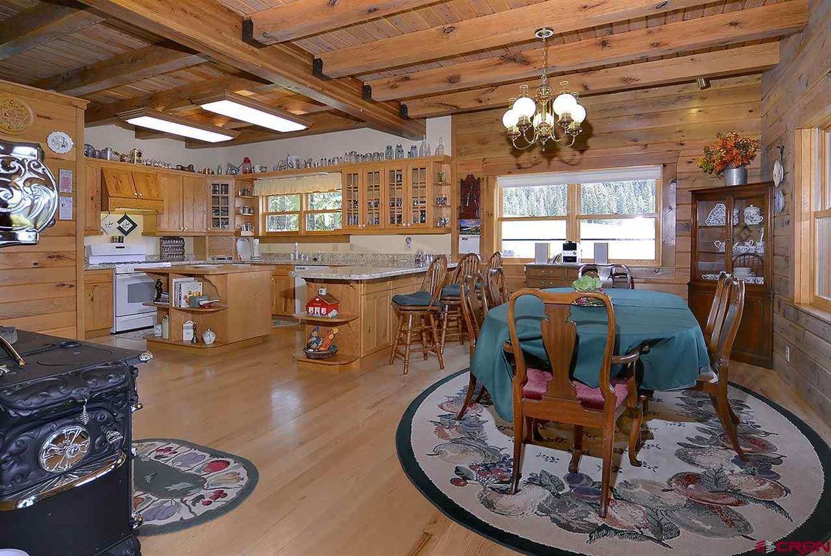 Mansions Three-story Oak Log Sided Home Boasts Grand Views
