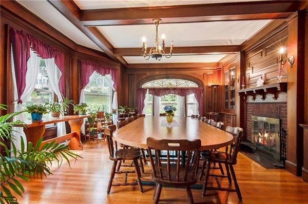 Luxury properties Grand Queen Anne Colonial revival style home