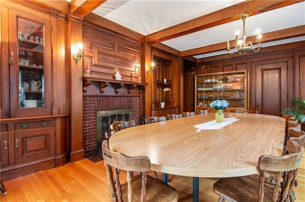 Mansions Grand Queen Anne Colonial revival style home