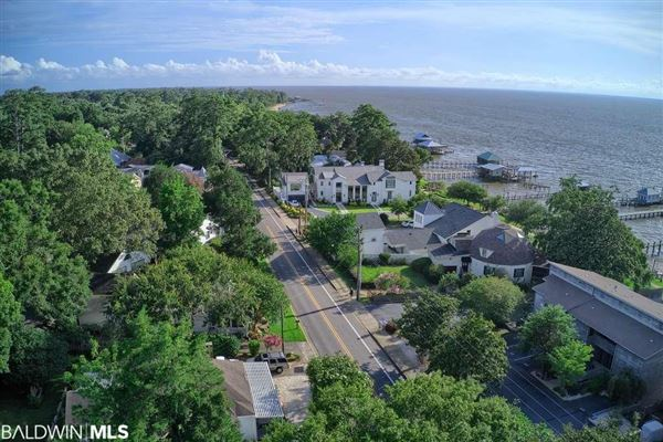 a view of Mobile Bay luxury properties