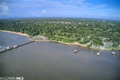 a view of Mobile Bay luxury real estate