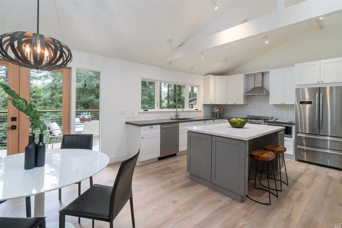 Luxury real estate Newly remodeled home in the heart of downtown Mill Valley
