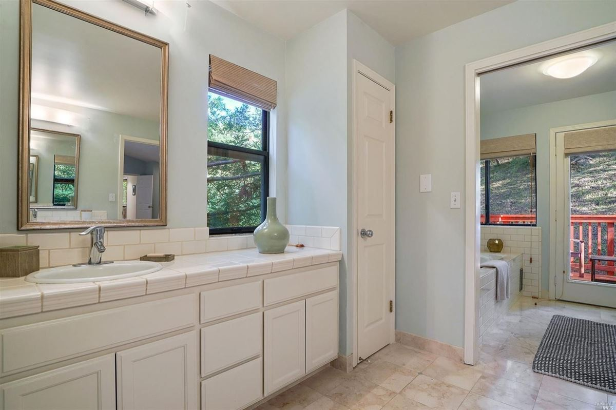 Luxury properties Mill Valley home on a private lot