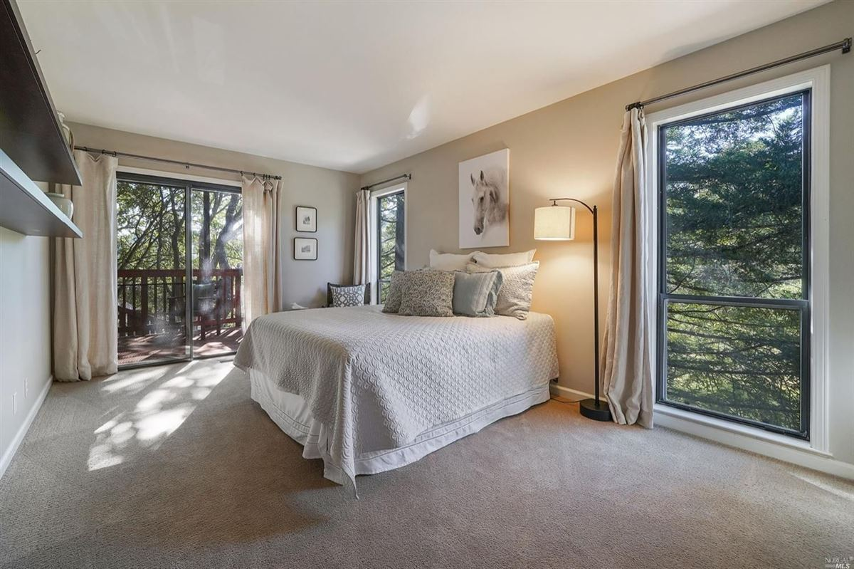 Luxury real estate Mill Valley home on a private lot