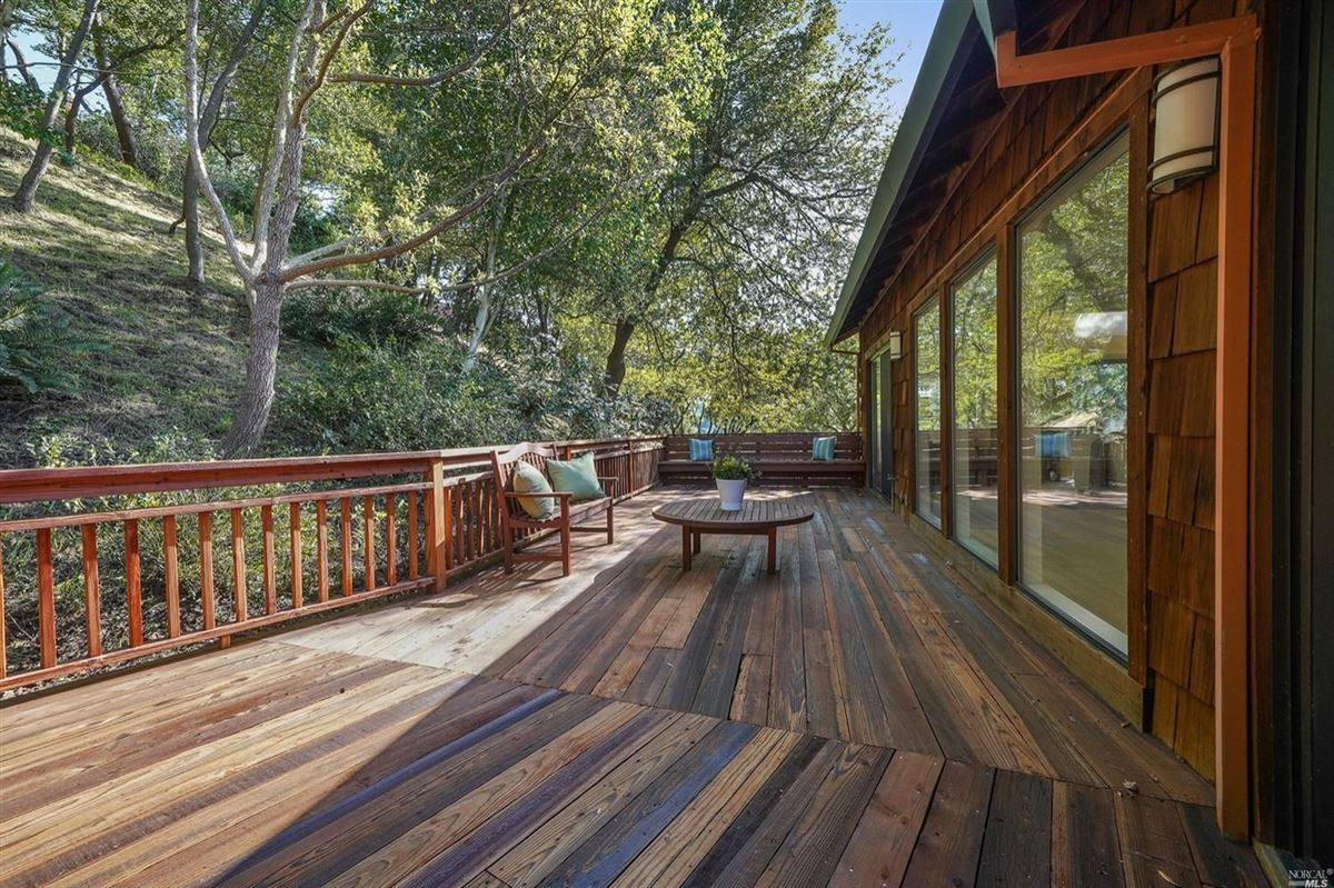 Mansions Mill Valley home on a private lot