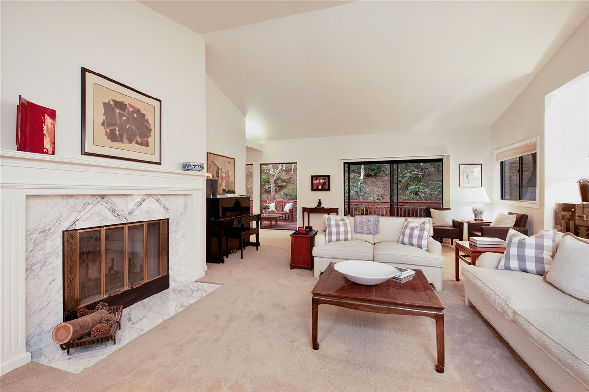 Luxury real estate wonderful mill valley home on a private lot