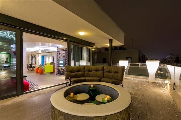 Mansions in unique contemporary penthouse
