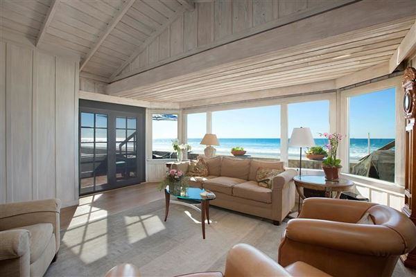Luxury properties oceanfront rental home directly on the sand