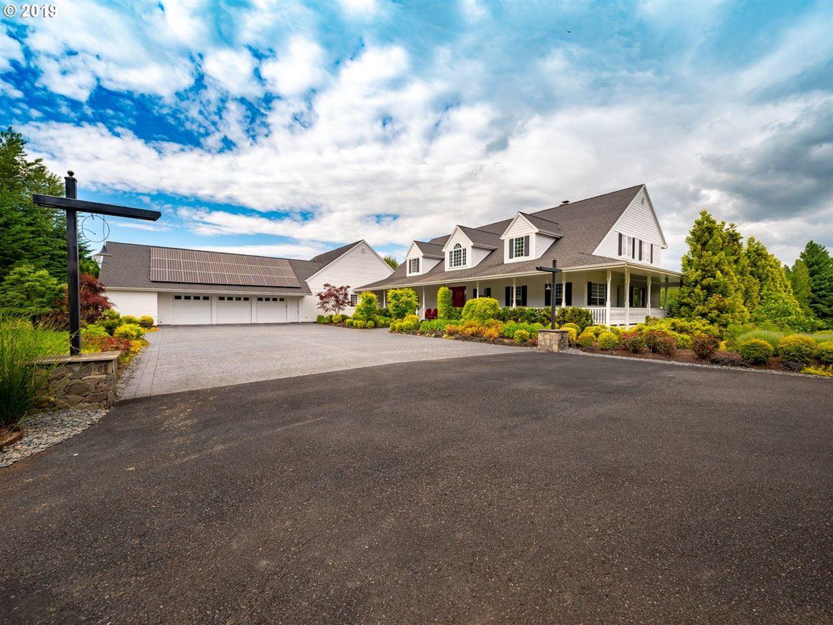 Luxury homes in serene modern farmhouse