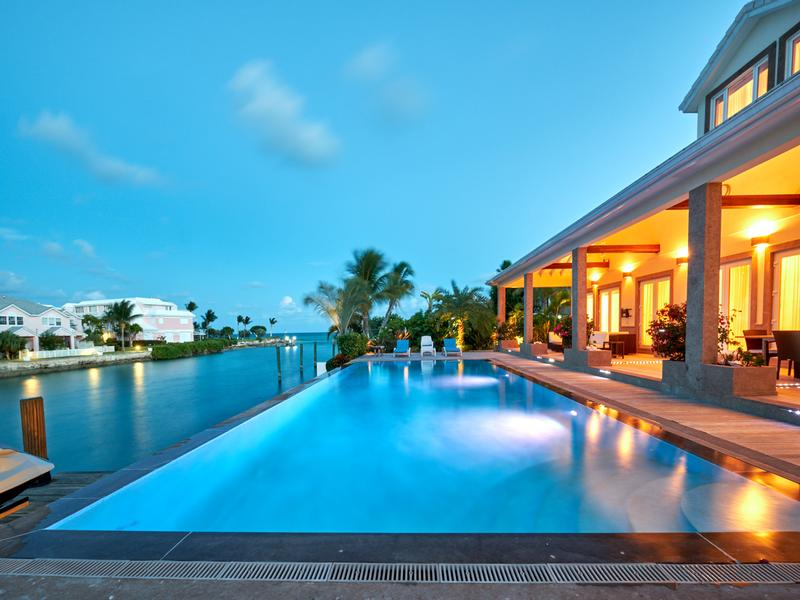 Mansions in Exquisite Waterfront Home in NASSAU BAHAMAS