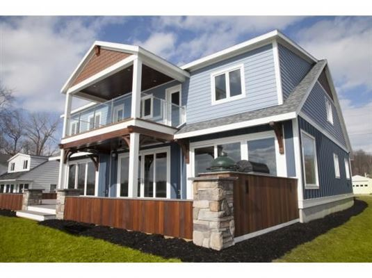 Luxury homes New Build with 75' of Owned Cayuga Lake Frontage, Panoramic Lake Views & Access